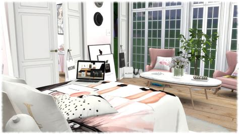 Bedroom Fashion by The Sims 4 Speed Build Fashion Bedroom Cc