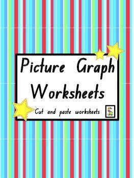 picture graph worksheets cut  paste printables