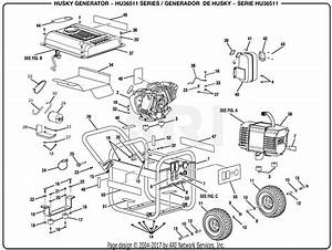 Homelite Hu36511 Series 3 650 Watt Generator Parts Diagram