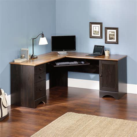 Black Wood Corner Computer Desk by Harbor View Corner Computer Desk 403794 Sauder