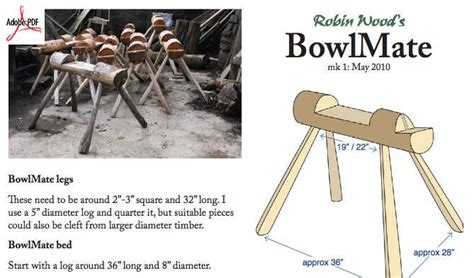dowload  plans    bowlmate  bowl carving