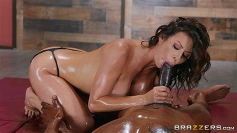 gorgeous alexis fawx is oiled up with a black lover and