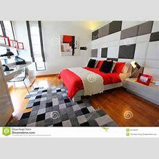 Clean Modern Bedroom Stock Image Image Of Modern, Sleep