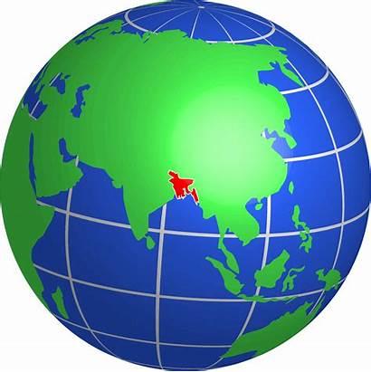 Globe Bangladesh Clipart Map Animated Clip Transparent