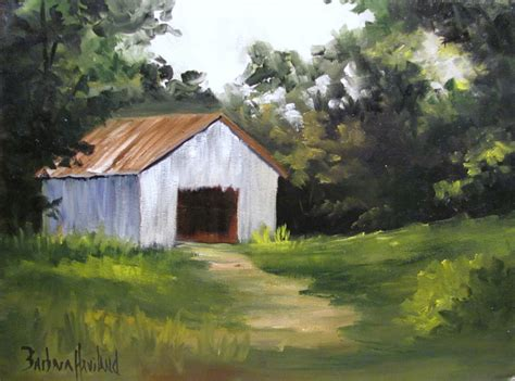 Gray Barn by Artists Of Contemporary Paintings And 10 1 11