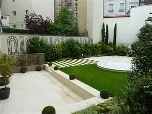 jardins domozoomcom With idee amenagement jardin paysager 0 idee de salon de jardin lounge sur terrasse pierre