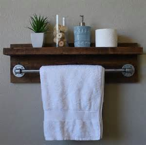 Bathroom Shelf With Towel Bar Wood by 25 Best Ideas About Towel Holder Bathroom On