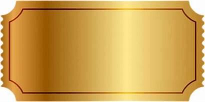 Ticket Golden Blank Transparent Yellow Clipart Clip