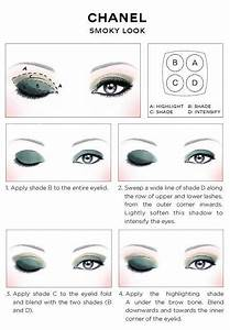 Eyeliner Chart Chanel Eye Makeup Chart How To Wear Chanel Les 4 Ombres
