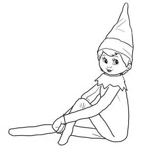 Elves On the Shelf Coloring Pages