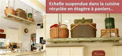 echelle de cuisine idées récup et recyclage échelle en bois