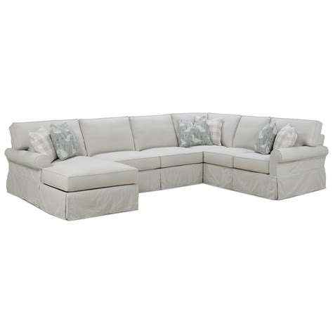 Sectional Slipcover Sofa by Rowe Easton Casual Sectional Sofa With Slipcover Reeds