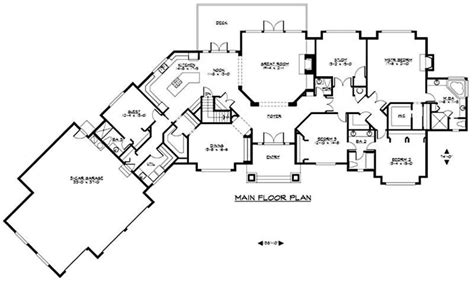 craftsman luxury home   bedrms  sq ft plan