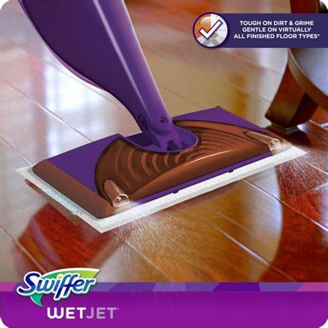 swiffer for wood floors reviews swiffer wetjet wood hardwood floor spray mop starter kit target