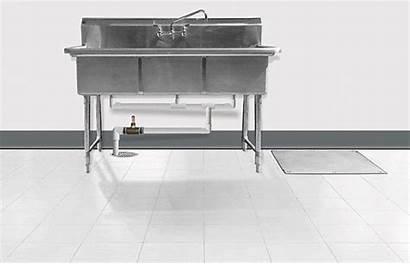 Grease Interceptor Restaurant Floor Under Interceptors Above