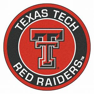 "Texas Tech University Red Raiders Logo Roundel Mat - 27"""