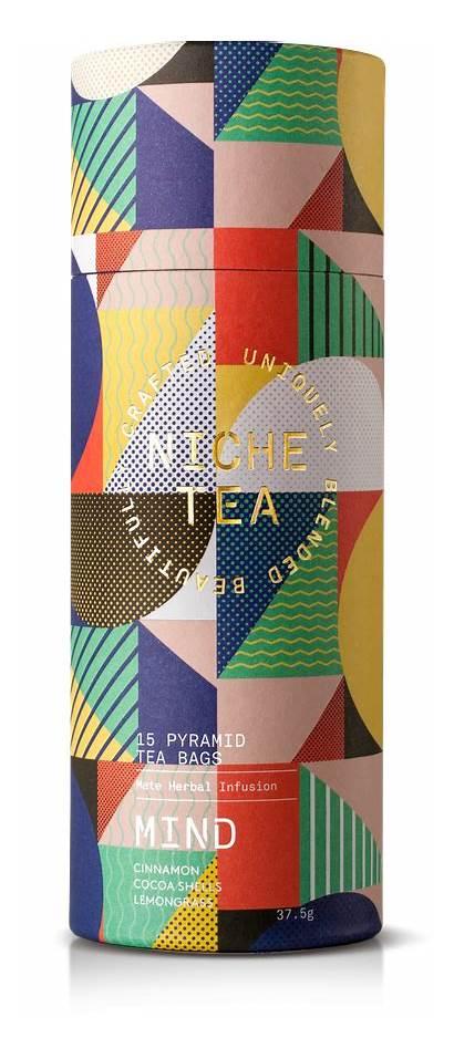 Packaging Geometric Tea Niche Elegant Mind Bold