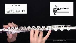 How To Play The Note C Sharp D Flat C   Db On Flute  Learn