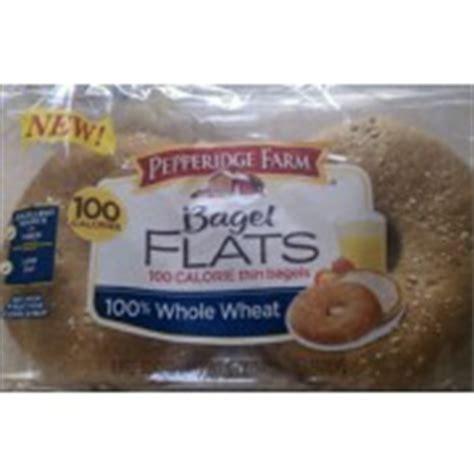 pepperidge farm bagel flats  calorie thin bagels