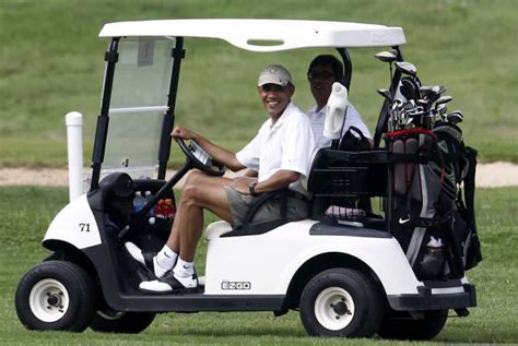 Obama Plays Golf With Espn Hosts At Exclusive Private