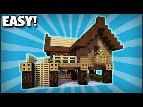minecraft   build  small starter survival house  easy tutorial youtube minecraft