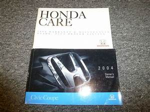 2004 Honda Civic Coupe Owner Owner U0026 39 S Manual User Guide Set