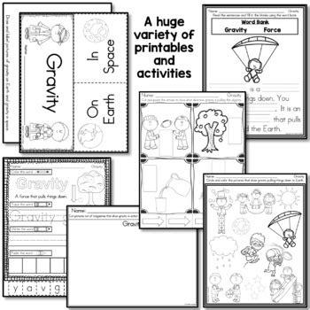 of gravity worksheet gravity by lindsay keegan teachers pay teachers