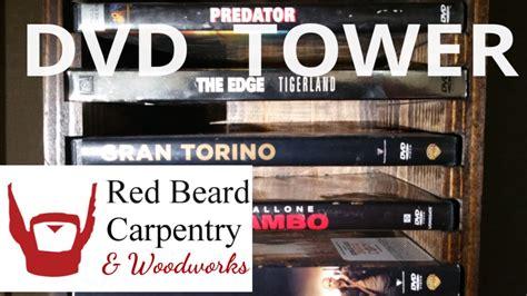 building  dvd rack tower shelf  wood youtube