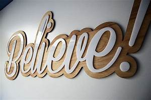 Finished believe sign birch wood base cut to shape on the for Cnc lettering software