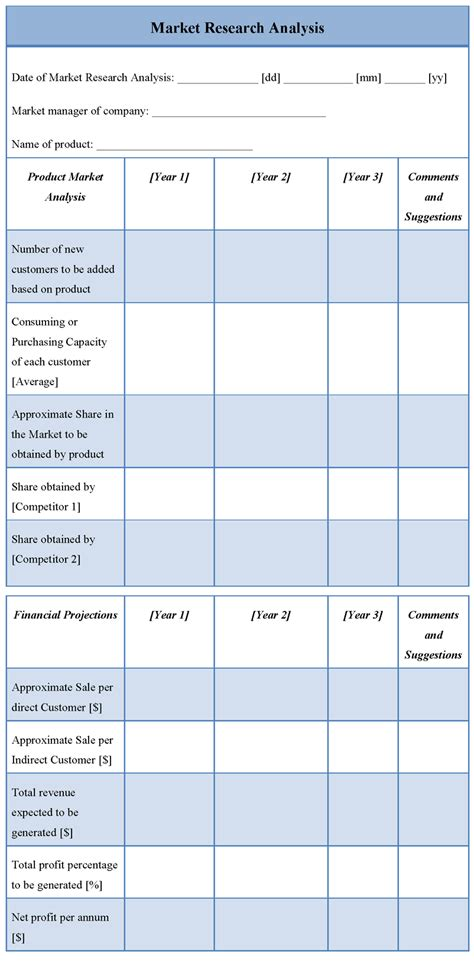 analysis template market research analysis template sle templates