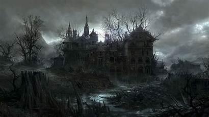 Halloween Haunted Desktop Background Dark Spooky Wallpapersafari