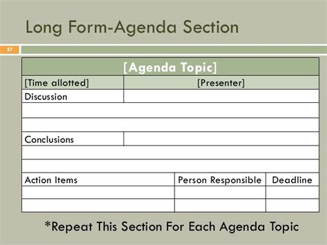 meeting notes template with items all about meeting minutes