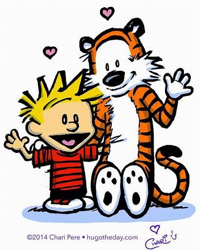 Calvin Hobbes Hug Hugging