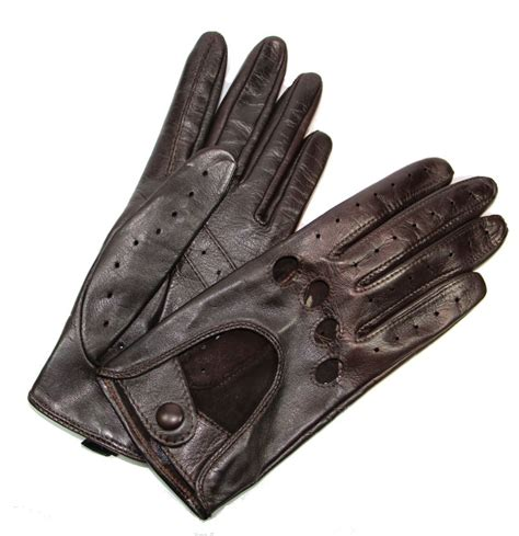 gant anti chaleur cuisine gants de conduite femme cuir brun choco glove tous les gants