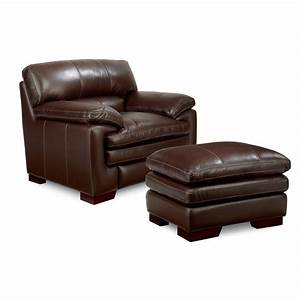 Casual Upholstered Stationary Chair And Ottoman Set By La