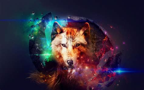 Digital Wolf Wallpaper by Galaxy Wolf Wallpaper 69 Images