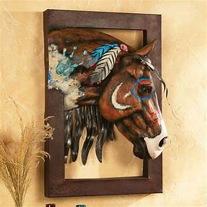 painted warrior horse 3 d wall sculpture With best brand of paint for kitchen cabinets with metal wall art sculpture