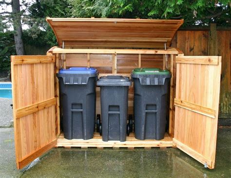 garbage can storage shed on sheds recycling