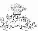 Volcano Drawing Eruption Coloring Volcanic Explosion Getdrawings sketch template