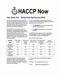 haccp fact sheet 1 risk assessment With food safety risk assessment template