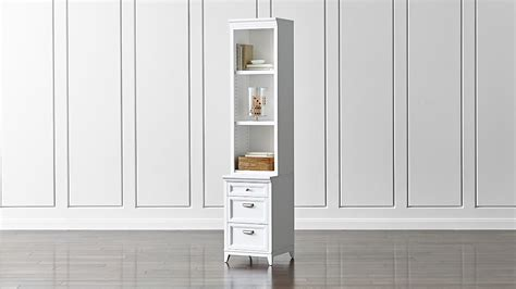 White Bookcase Cabinet by Harrison 18 Quot White Bookcase With 3 Drawer Cabinet Base