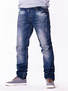 Faded Ripped Denim Jeans for Men