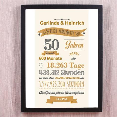 geschenk zur goldenen hochzeit ideen pers 246 nliches wandbild goldene hochzeit verheiratet seit