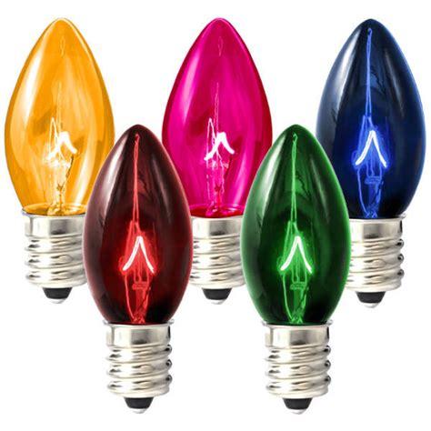 c7 colored light bulbs c7 transparent multi color replacement bulb