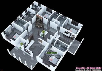 Kerala Plans Contemporary 3d Floor Homes Inspired