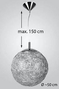 Lustre Boule Plume : suspension luminaire boule porte interieur avec suspension ~ Teatrodelosmanantiales.com Idées de Décoration