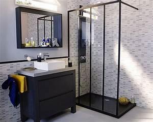 Meuble De Salle De Bain Industriel : castorama meuble de salle de bains harmon style industriel pour une salle de bains moderne ~ Teatrodelosmanantiales.com Idées de Décoration