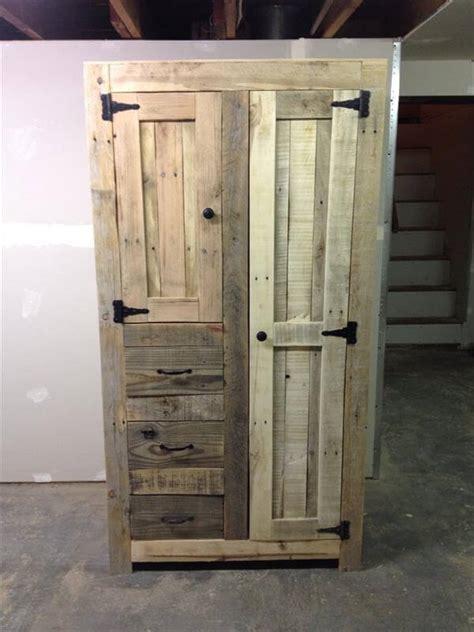 kitchen storage cabinet diy pallet cabinet for storage 101 pallets Diy