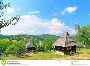 Preserved Traditional Balkans Medieval Village In
