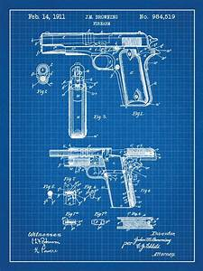 Inked and Screened - Firearm Patent Prints 18x24